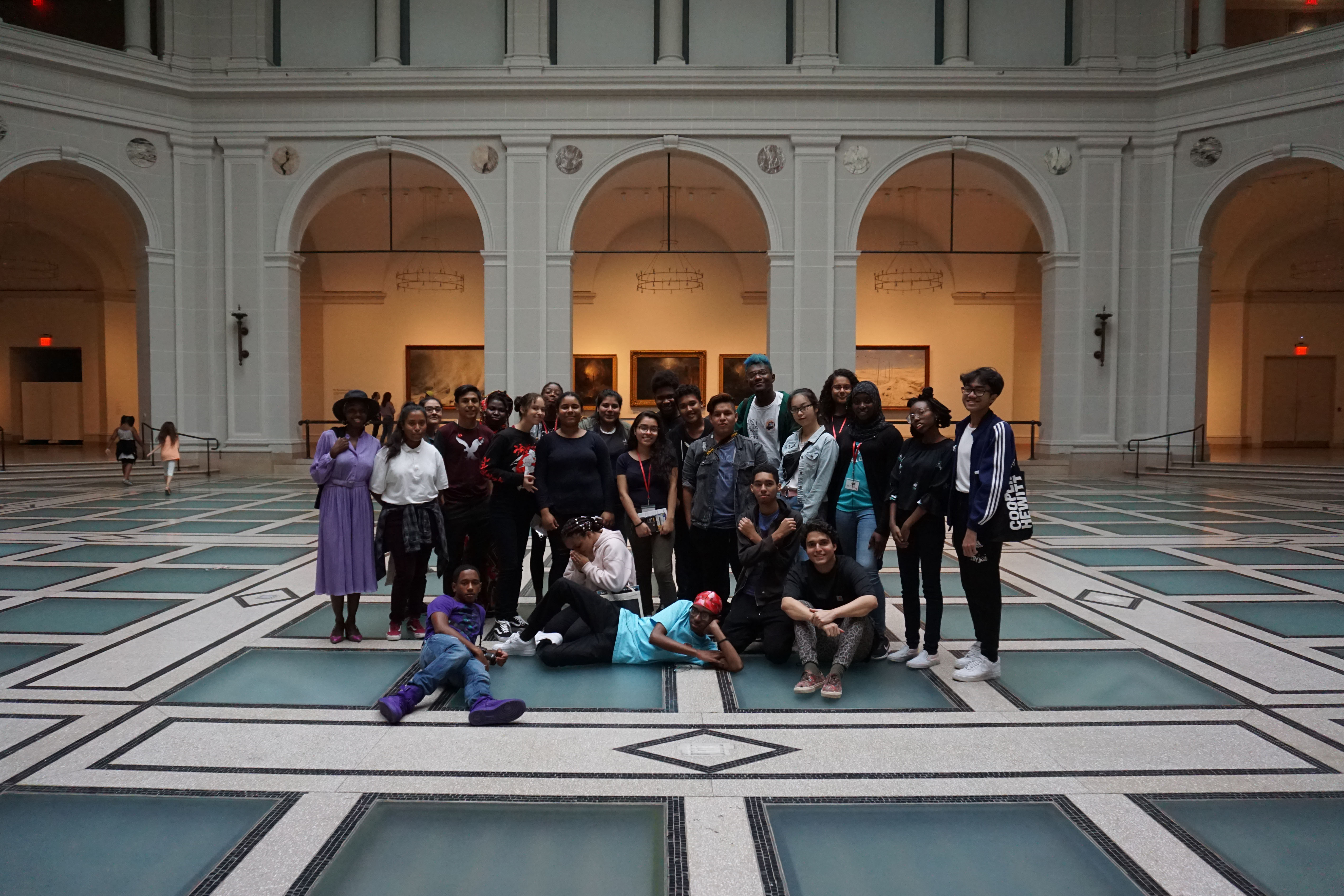 Group Photo: Soul of a Nation Exhibit at the Brooklyn Museum